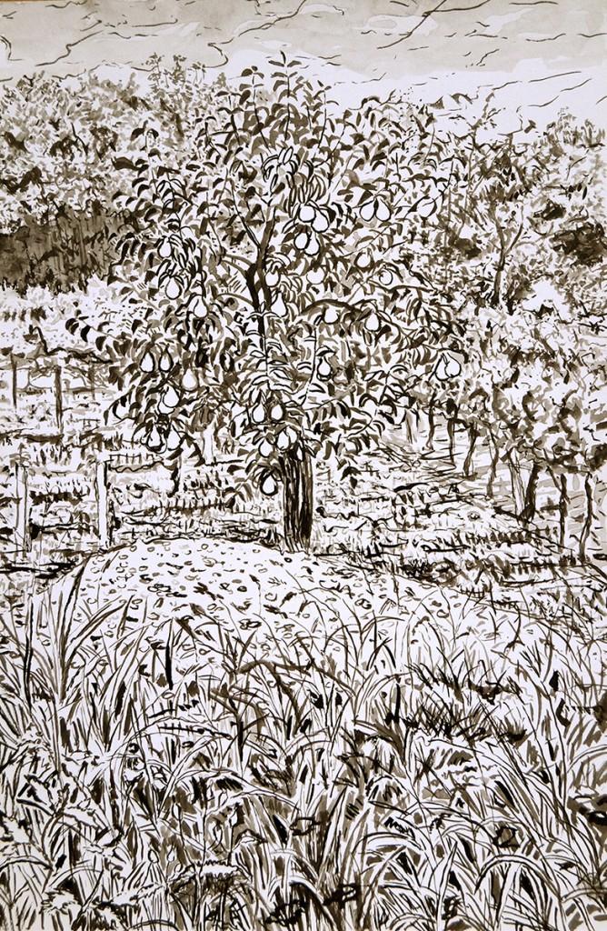 4Birnenbaum, 28,2x18,6cm,2015